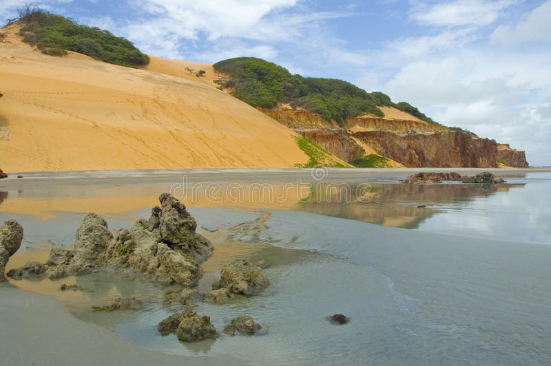 Παραλία Βραζιλία του Φορταλέζα στοκ εικόνα με δικαίωμα ελεύθερης χρήσης