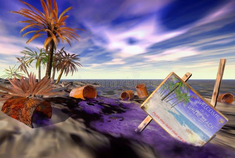 Παραλία η ημέρα κατόπιν απεικόνιση αποθεμάτων