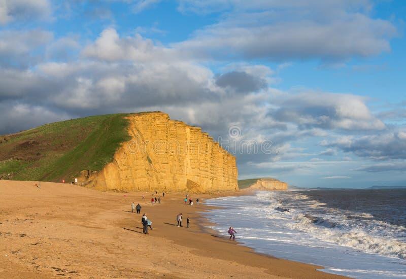 Παραλία και απότομοι βράχοι στο δυτικό κόλπο Dorset στο UK στοκ εικόνες με δικαίωμα ελεύθερης χρήσης