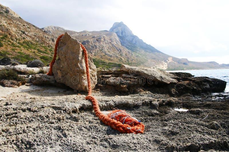 Παραλία και λιμνοθάλασσα Balos στοκ φωτογραφίες