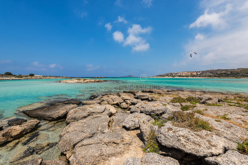 Παραλία Κρήτη Elafonisi στοκ φωτογραφία