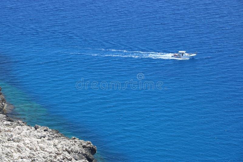 Παραλία κυβερνητών στην όμορφη Κύπρο στοκ εικόνες