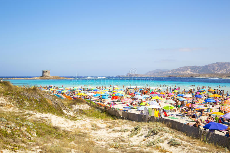 Παραλία Λα Pelosa στοκ εικόνα με δικαίωμα ελεύθερης χρήσης