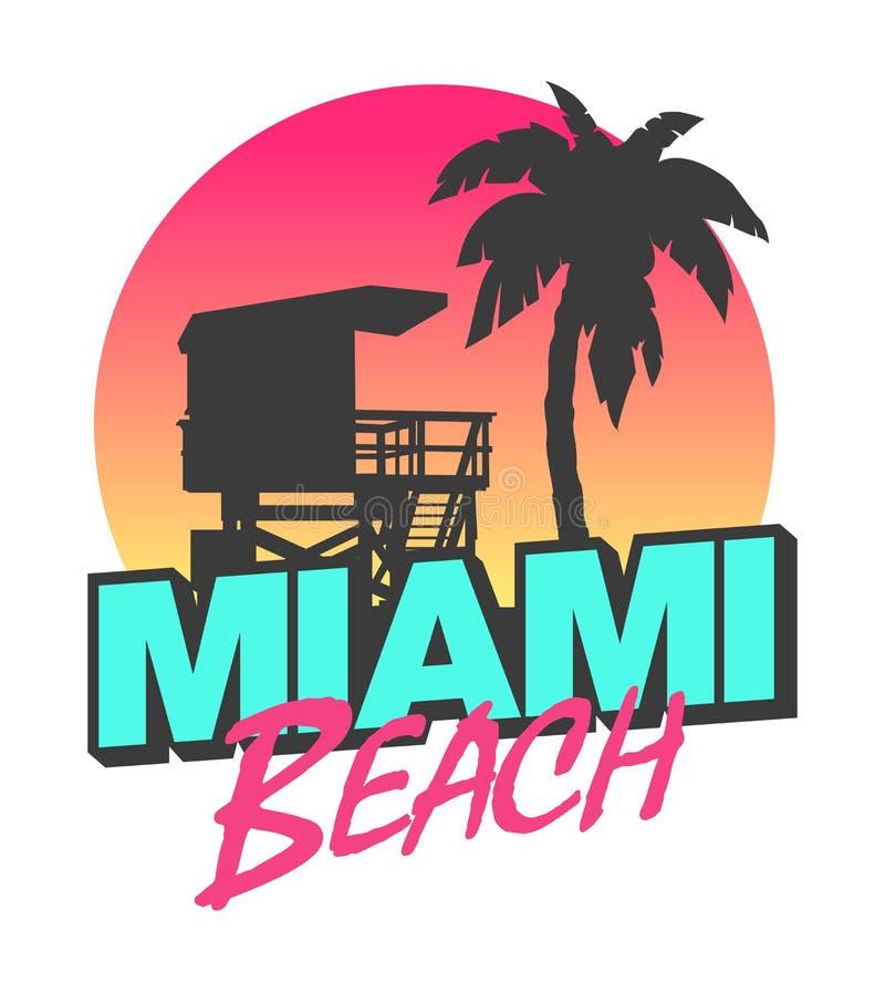 παραλία Μαϊάμι απεικόνιση αποθεμάτων