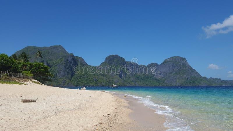 Παραλία νησιών ελικοπτέρων στοκ φωτογραφίες