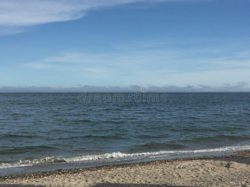 Παραλία ξύλων καρυδιάς σε Milford, Κοννέκτικατ στοκ φωτογραφίες