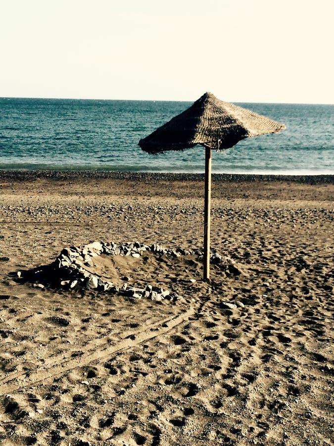 Παραλία ομπρελών στοκ εικόνες