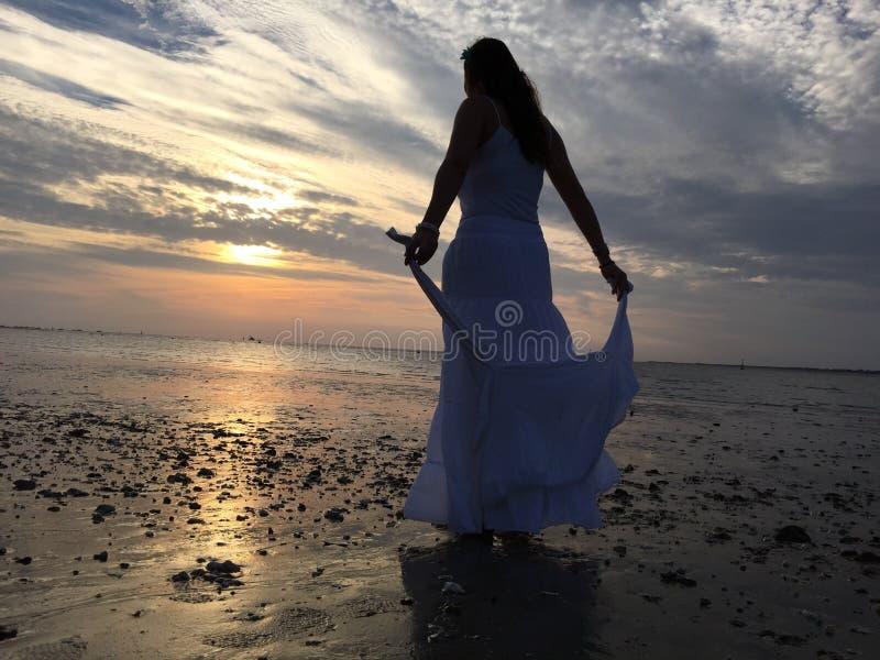Παραλία ουρανού Libertad στοκ φωτογραφία με δικαίωμα ελεύθερης χρήσης