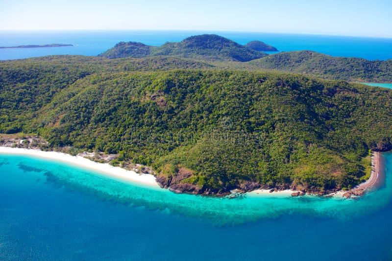 Παραλία παραδείσου σε Whitsundays στοκ εικόνες