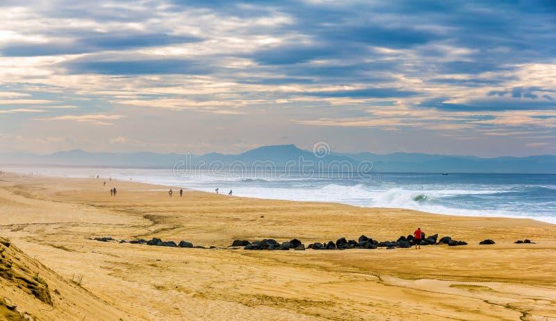 Παραλία στον Ατλαντικό Ωκεανό κοντά σε Seignosse - τη Γαλλία στοκ εικόνες