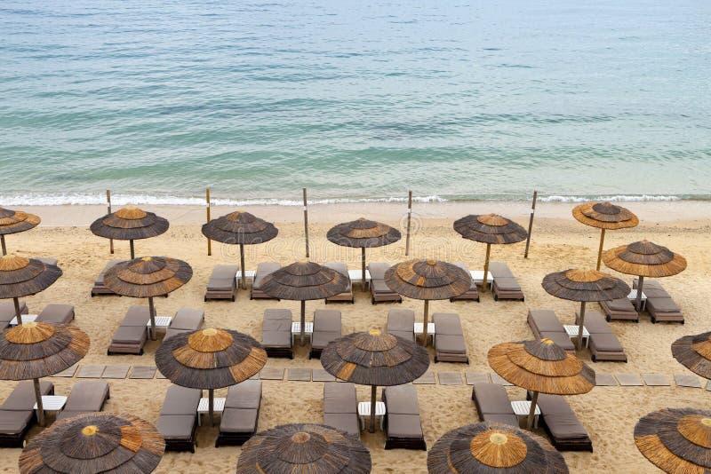 Παραλία στο νησί της Μυκόνου στην Ελλάδα στοκ φωτογραφία με δικαίωμα ελεύθερης χρήσης