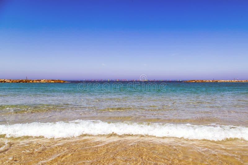 Παραλία της Ιερουσαλήμ στο Τελ Αβίβ στοκ εικόνες
