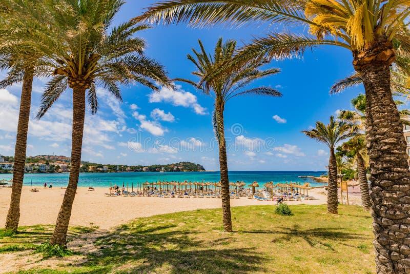 Παραλία της Ισπανίας Majorca σε Santa Ponsa στοκ φωτογραφίες με δικαίωμα ελεύθερης χρήσης
