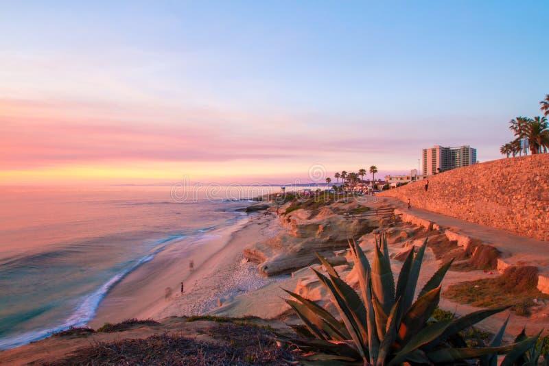 Παραλία της Λα Χόγια στο ηλιοβασίλεμα στοκ εικόνες με δικαίωμα ελεύθερης χρήσης