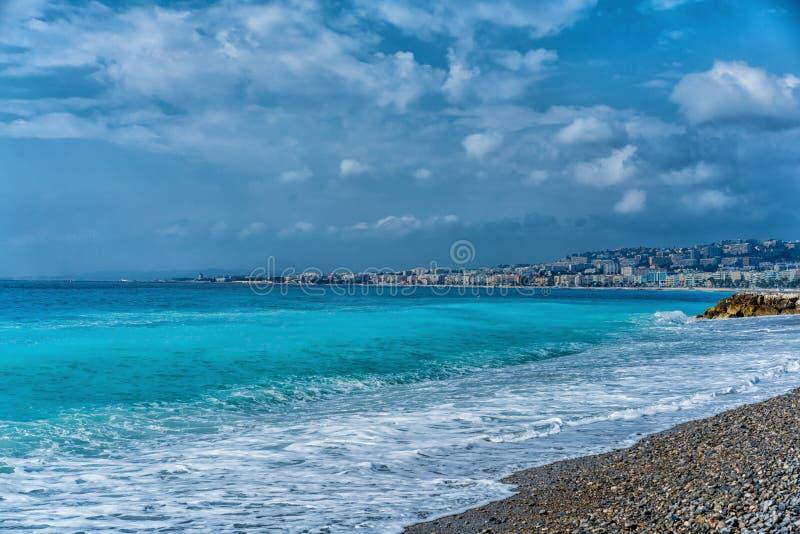 Παραλία της Νίκαιας, Γαλλία στοκ εικόνες