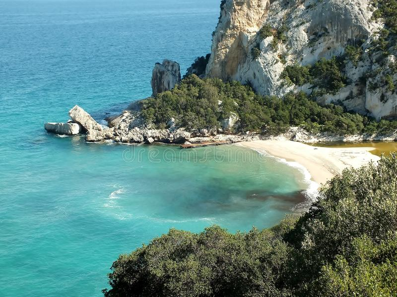 Παραλία της Calla Luna της Σαρδηνίας/της Ιταλίας στοκ εικόνες με δικαίωμα ελεύθερης χρήσης