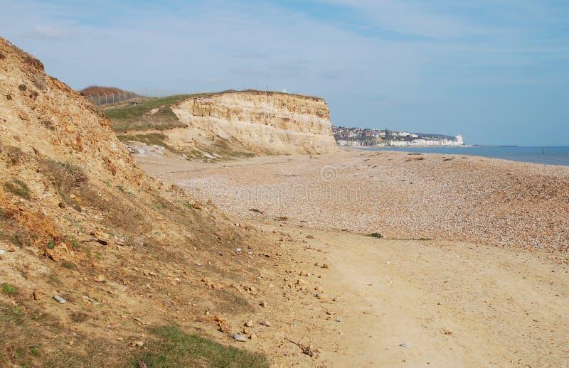 Παραλία της Gap Glyne, Αγγλία στοκ εικόνες