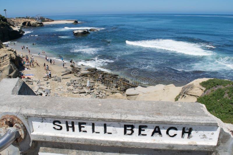 Παραλία της Shell, Λα Χόγια, Καλιφόρνια στοκ φωτογραφία