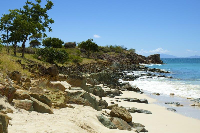 Παραλία τορναδόρων στη Αντίγκουα, καραϊβική στοκ εικόνες με δικαίωμα ελεύθερης χρήσης