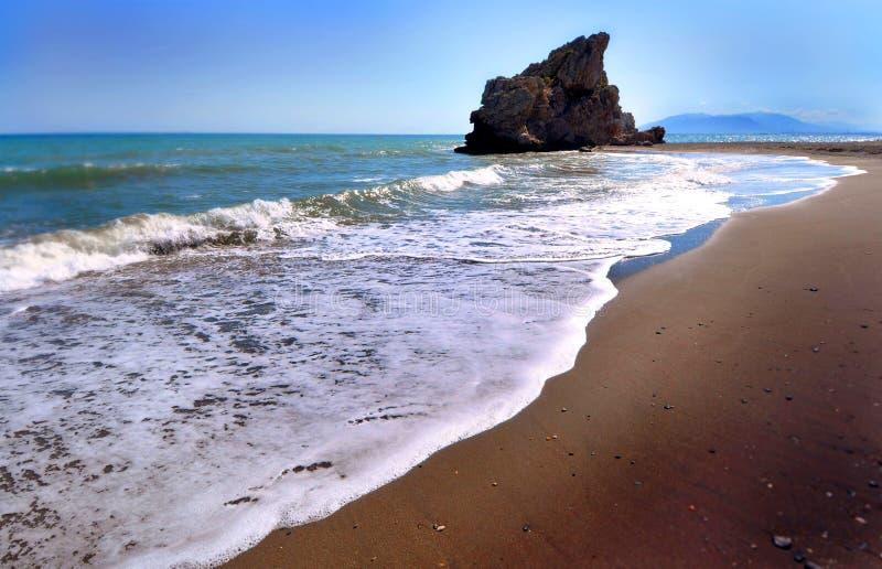 Παραλία του βράχου, Playa de Λα Roca στη Μάλαγα (Ισπανία) στοκ εικόνες