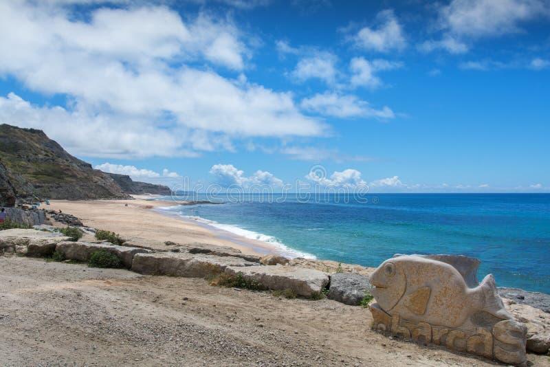 Παραλία του Πόρτο DAS Barcas σε Lourinha, Πορτογαλία στοκ εικόνα με δικαίωμα ελεύθερης χρήσης