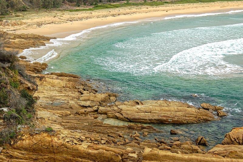 Παραλία του Nelson - ακτή σαπφείρου στοκ εικόνες