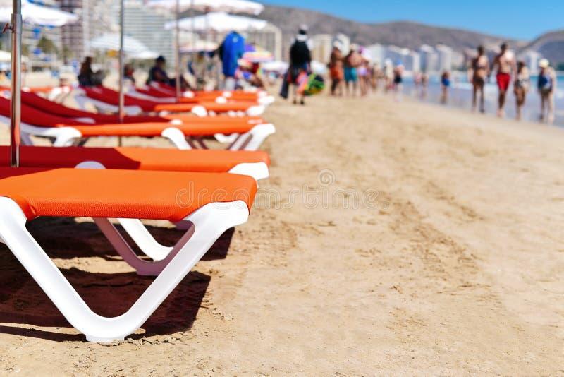 Παραλία του San Antonio Cullera, Ισπανία στοκ εικόνα