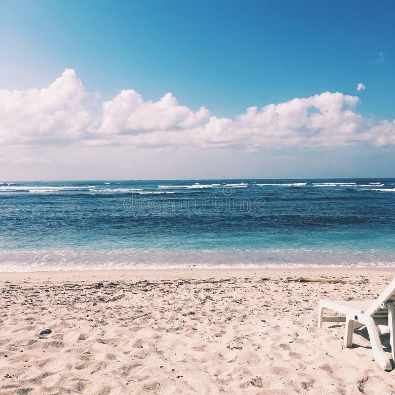 Παραλία το πρωί στοκ φωτογραφία
