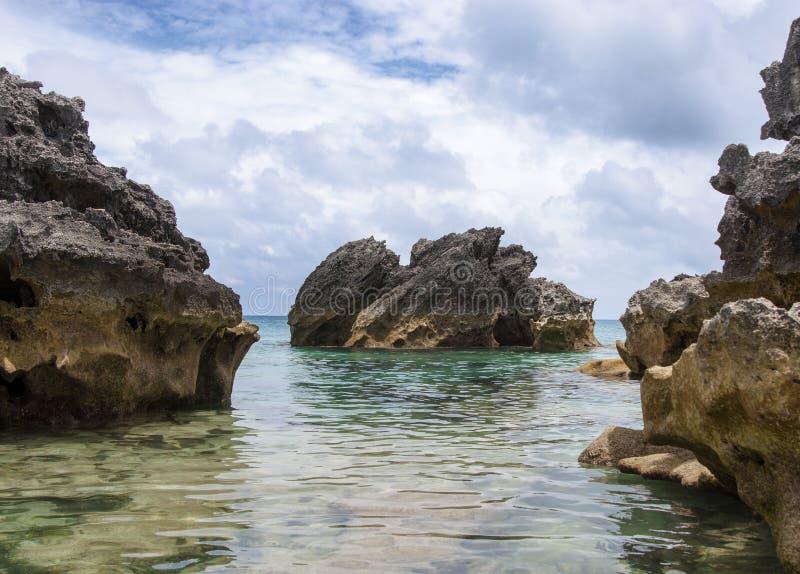 Παραλία των Βερμούδων. στοκ φωτογραφίες