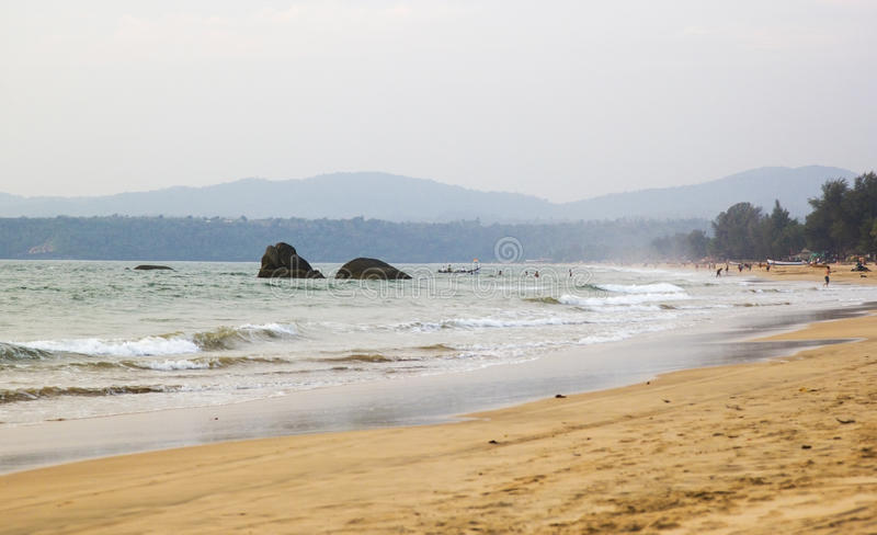 Παραλία Agonda, νότιο goa, Ινδία στοκ εικόνες