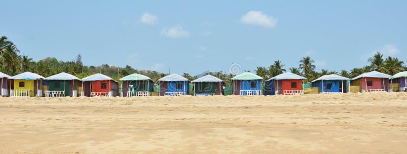 Παραλία Agonda Νότος Goa, Ινδία στοκ φωτογραφία