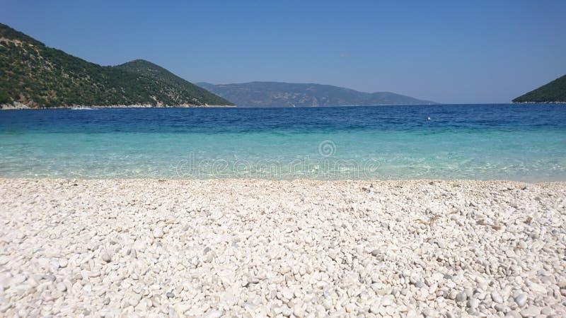 Παραλία Antisamos, Kefalonia, Ελλάδα στοκ φωτογραφίες με δικαίωμα ελεύθερης χρήσης