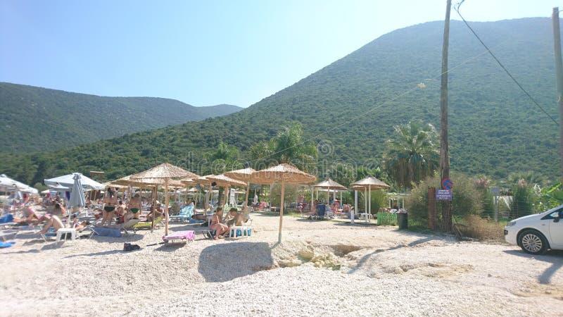 Παραλία Antisamos, Kefalonia, Ελλάδα στοκ εικόνες