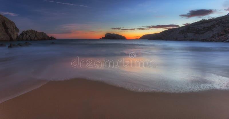 Παραλία Arnia στοκ εικόνα