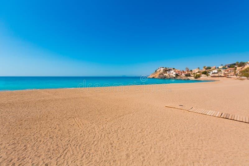 Παραλία Bolnuevo σε Mazarron Murcia στην Ισπανία στοκ φωτογραφίες