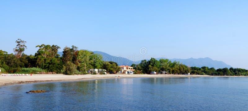 Παραλία Bravone στο νησί της Κορσικής στοκ εικόνα
