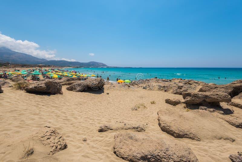 Παραλία Chania Falasarna στοκ φωτογραφία