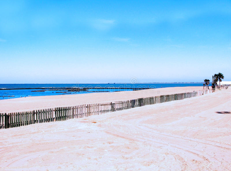 Παραλία Chipiona στο Καντίζ στοκ φωτογραφία με δικαίωμα ελεύθερης χρήσης