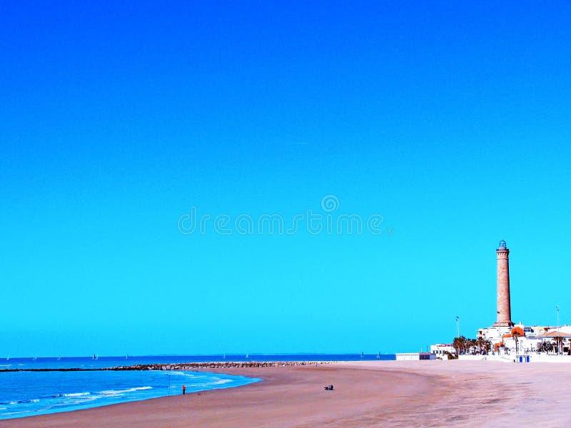 Παραλία Chipiona στο Καντίζ στοκ εικόνα με δικαίωμα ελεύθερης χρήσης