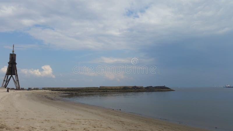 Παραλία Cuxhaven στοκ εικόνα