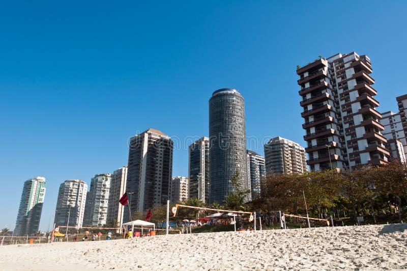 Παραλία DA Tijuca Barra στο Ρίο ντε Τζανέιρο στοκ εικόνες