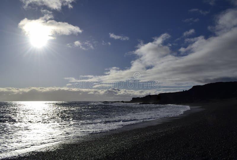 Παραλία Djúpalà ³ nssandur στοκ φωτογραφίες