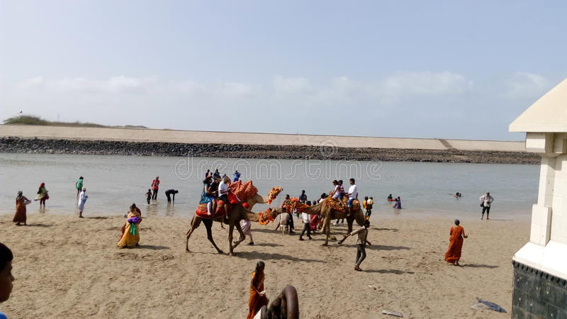 Παραλία Dwarika στοκ εικόνες