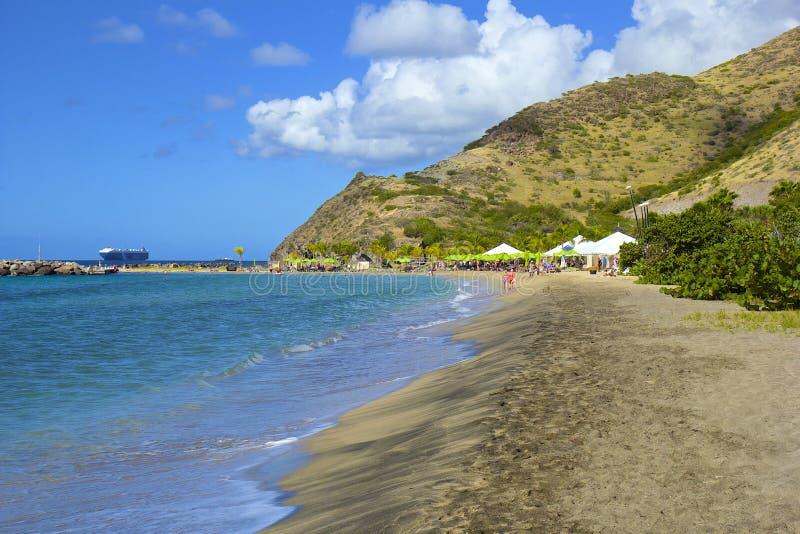 Παραλία Karambola σε St. Kitts, καραϊβικό στοκ εικόνες με δικαίωμα ελεύθερης χρήσης