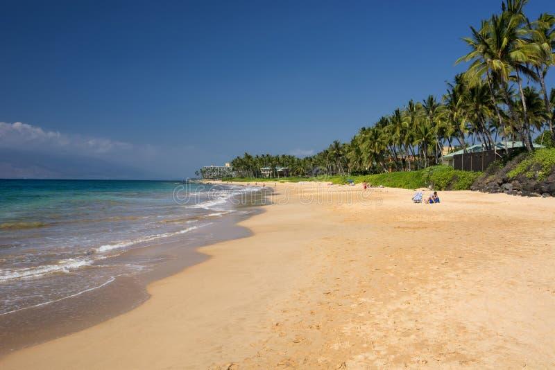Παραλία Keawakapu, νότια ακτή Maui, Χαβάη στοκ εικόνες με δικαίωμα ελεύθερης χρήσης