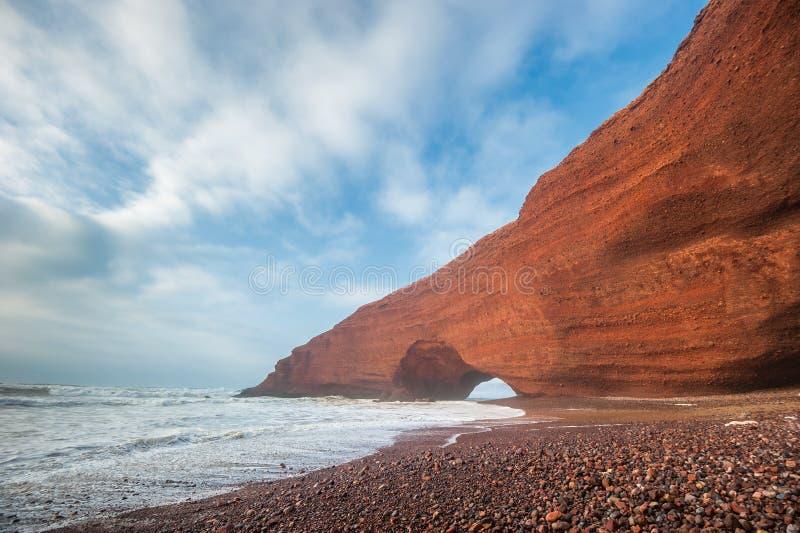 Παραλία Legzira, Μαρόκο στοκ εικόνες με δικαίωμα ελεύθερης χρήσης