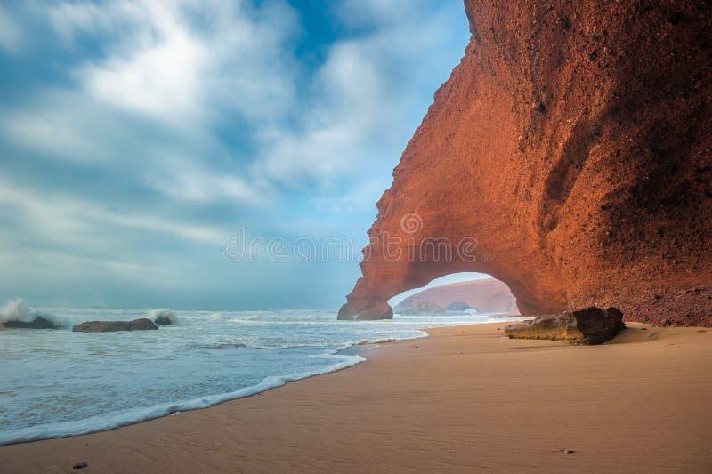 Παραλία Legzira, Μαρόκο στοκ φωτογραφίες