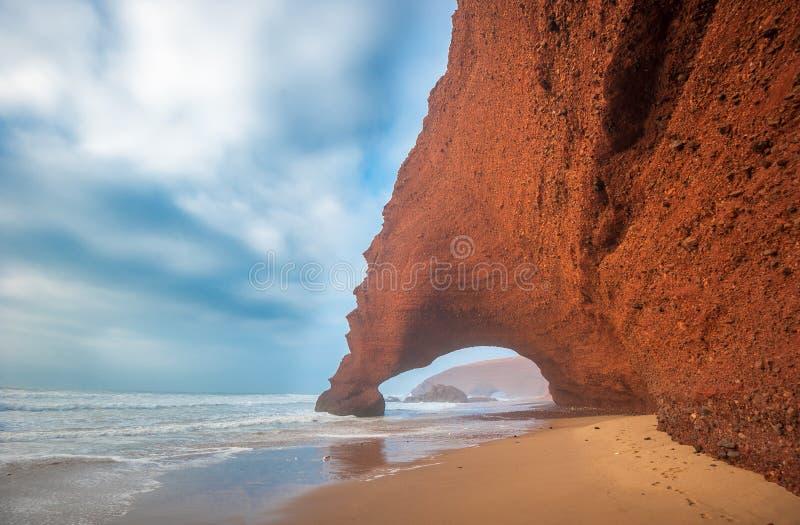 Παραλία Legzira, Μαρόκο στοκ εικόνα με δικαίωμα ελεύθερης χρήσης