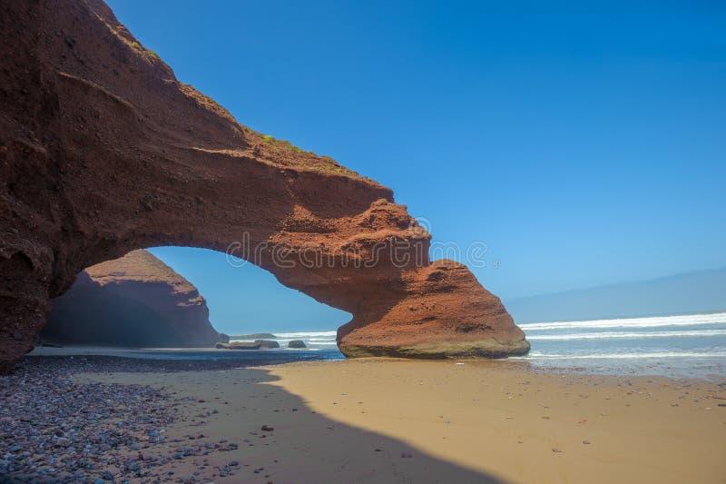 Παραλία Legzira, Μαρόκο στοκ εικόνες