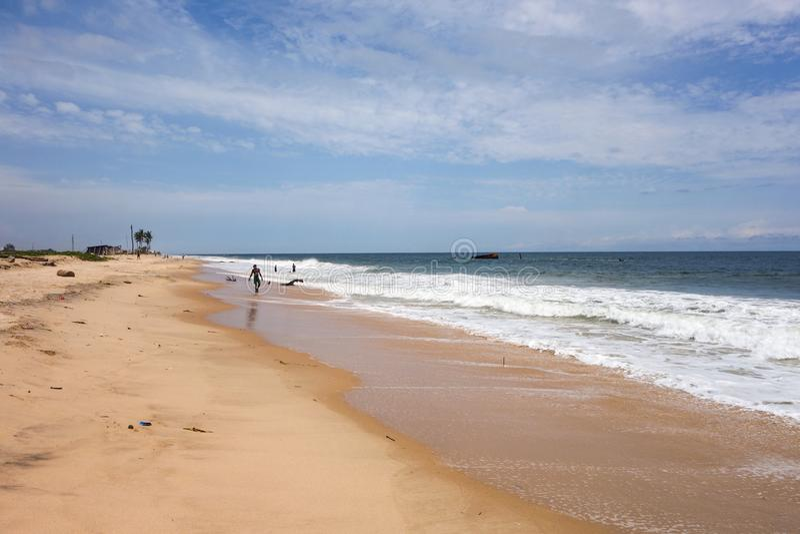 Παραλία Lekki στο Λάγκος στοκ εικόνα με δικαίωμα ελεύθερης χρήσης